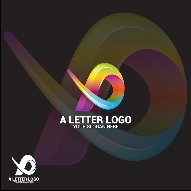 Een brief-logo Premium Vector