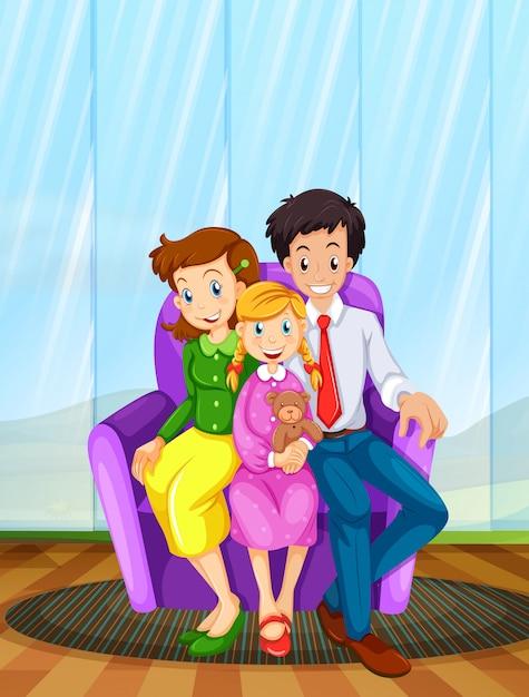 Een familie Gratis Vector