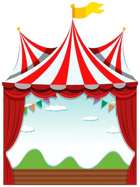 Een geïsoleerd circus Gratis Vector