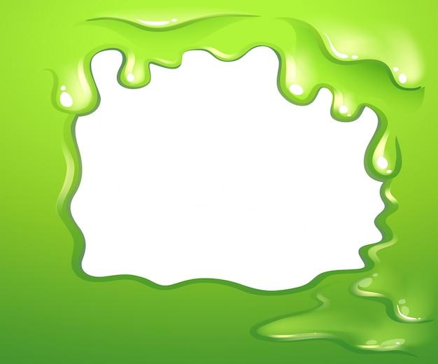 Een groen grensontwerp Gratis Vector