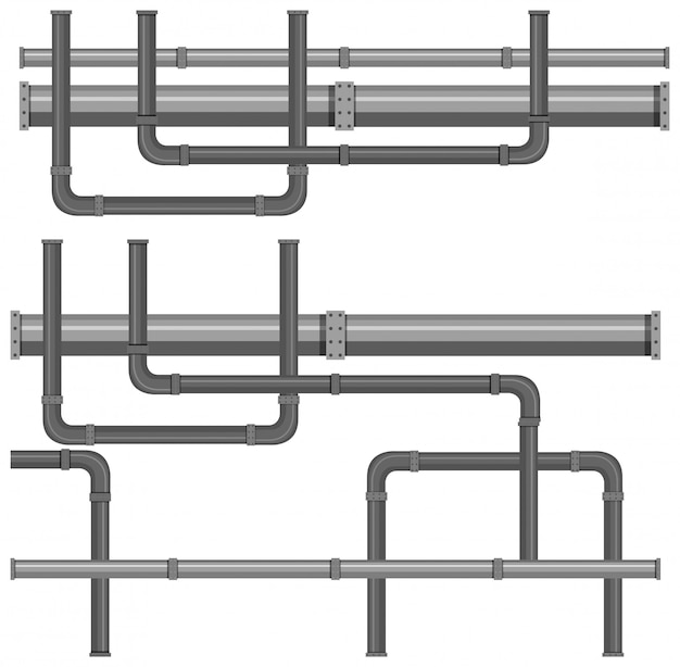 Een kaart met waterleidingsystemen Gratis Vector