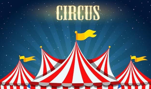 Een lege circusgrens Gratis Vector