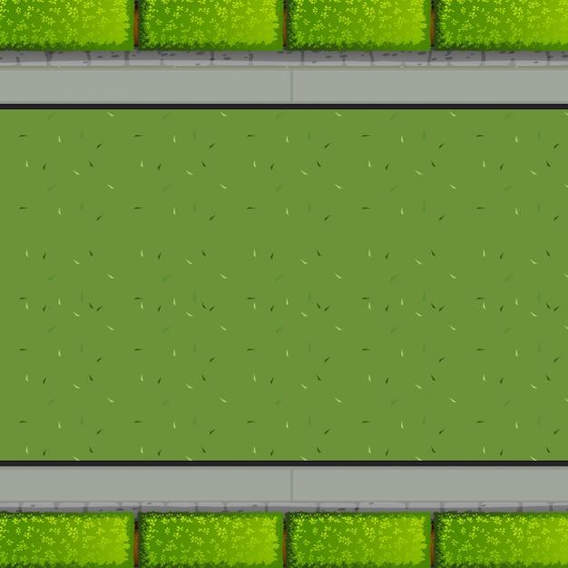 Een luchtfoto van tuin Gratis Vector