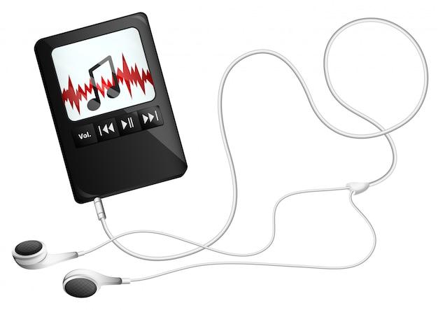 Een muzikaal gadget Premium Vector