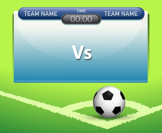 Een scorebord sjabloon voor voetbal Gratis Vector