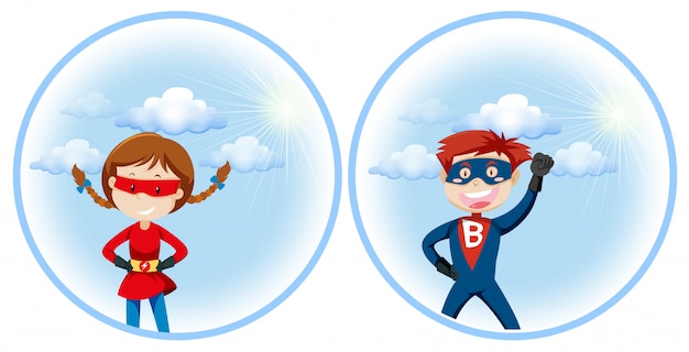 Een superheld-personage Gratis Vector