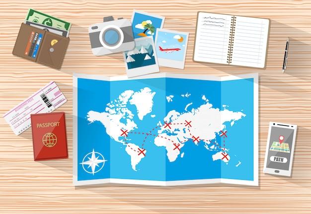 Een vakantieconcept plannen Premium Vector