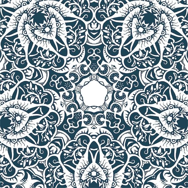 Een vierkant patroon, siertextuur, illustratie Premium Vector