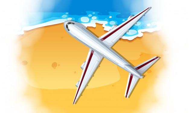 Een vliegtuig luchtfoto Gratis Vector
