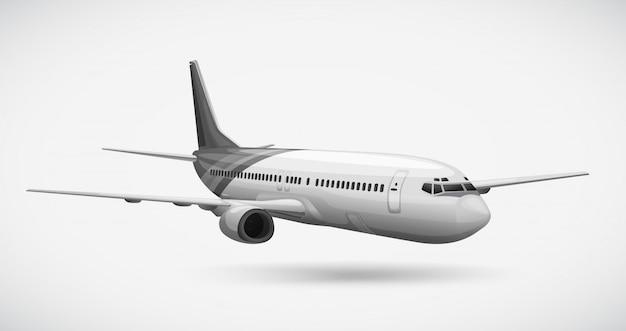Een vliegtuig Premium Vector