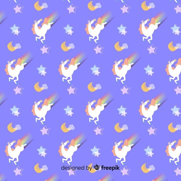 Eenhoorn patroon Gratis Vector