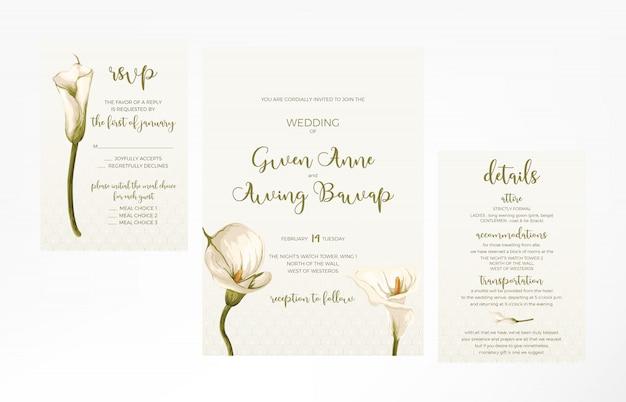 Eenvoudig en minimalistisch vrouwelijk huwelijksuitnodigingssjabloon Premium Vector