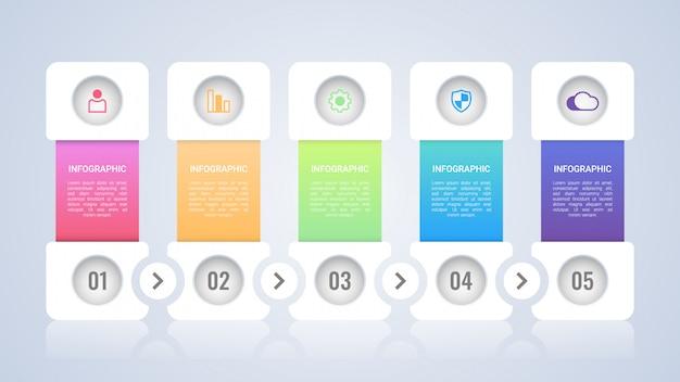 Eenvoudig en modern infographic sjabloon Premium Vector