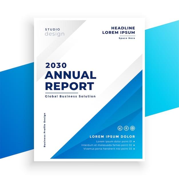 Eenvoudig jaarverslag zakelijke brochure sjabloonontwerp Gratis Vector