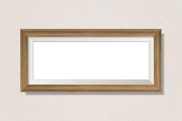 Eenvoudig leeg frame op de muur Gratis Vector
