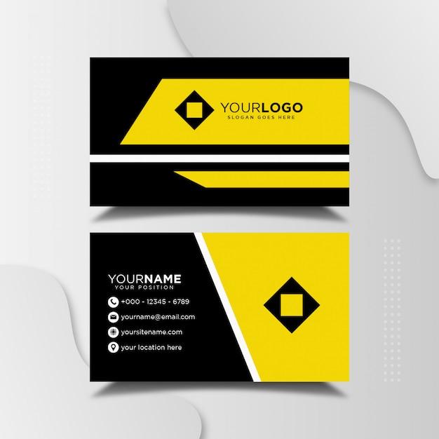 Eenvoudig minimalistisch visitekaartje ontwerpsjabloon Premium Vector