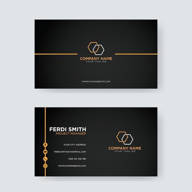 Eenvoudig visitekaartje Premium Vector