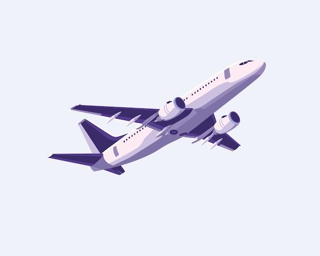 Eenvoudig vlak vliegtuigontwerp Premium Vector