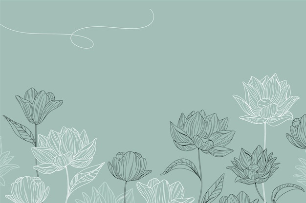 Eenvoudige bloemenachtergrond Gratis Vector