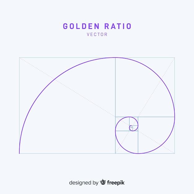 Eenvoudige gouden verhoudingsachtergrond Gratis Vector