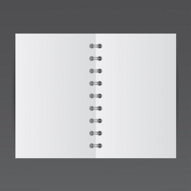 Eenvoudige kleine notepad, mockup Gratis Vector