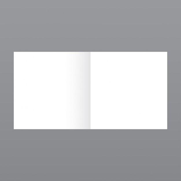 Eenvoudige kleine tijdschrift, mockup met grijze achtergrond Gratis Vector