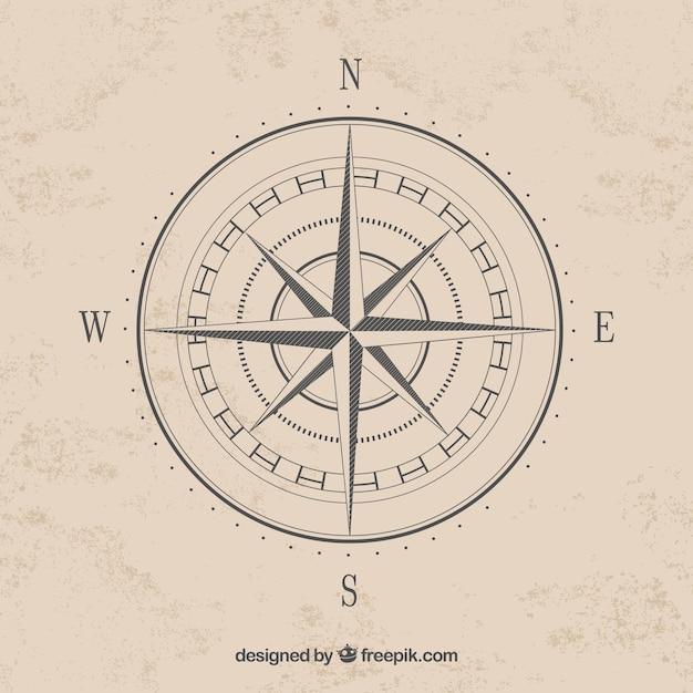 Eenvoudige kompas kardinale punten vector Gratis Vector
