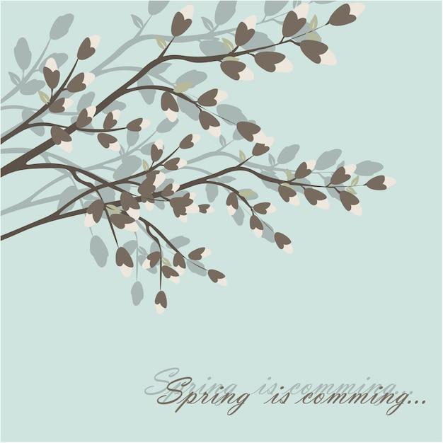 Eenvoudige lentebloemen blackground Gratis Vector