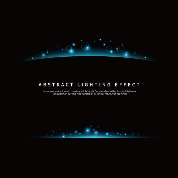 Eenvoudige lichteffect achtergrond Premium Vector
