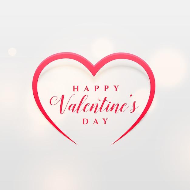 Eenvoudige lijn hartvorm ontwerp voor valentijnsdag Gratis Vector