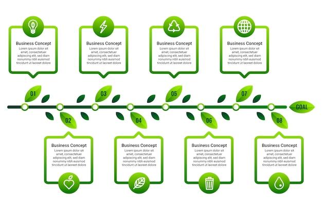 Eenvoudige tijdlijn infographic Premium Vector