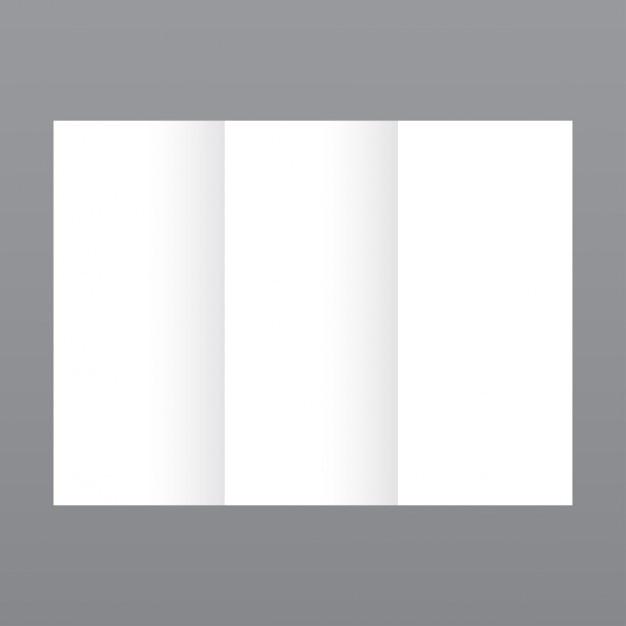 Eenvoudige witte brochure sjabloon Gratis Vector