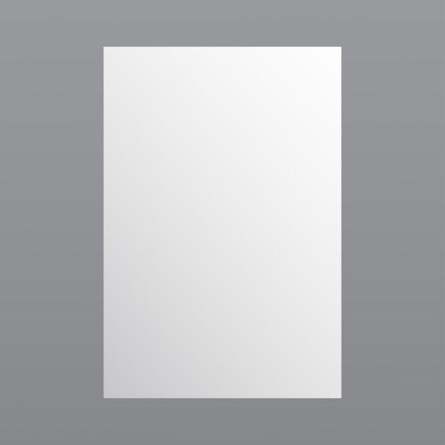 Eenvoudige witte papieren sjabloon Gratis Vector