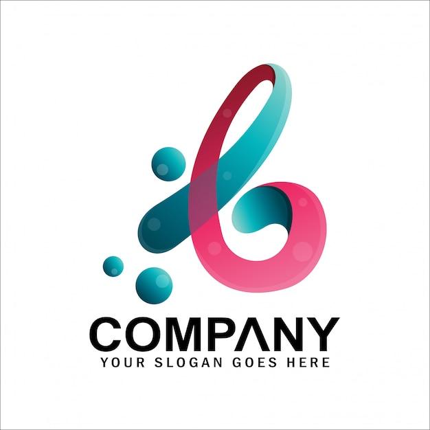 Eerste letter latijnse b-logo met bubbels, letter b-logo Premium Vector