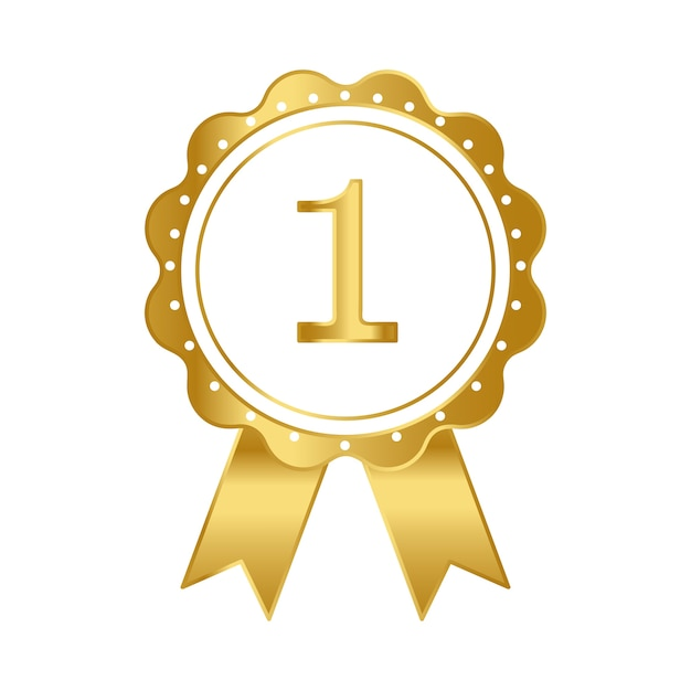 Eerste prijs lint award vector Gratis Vector