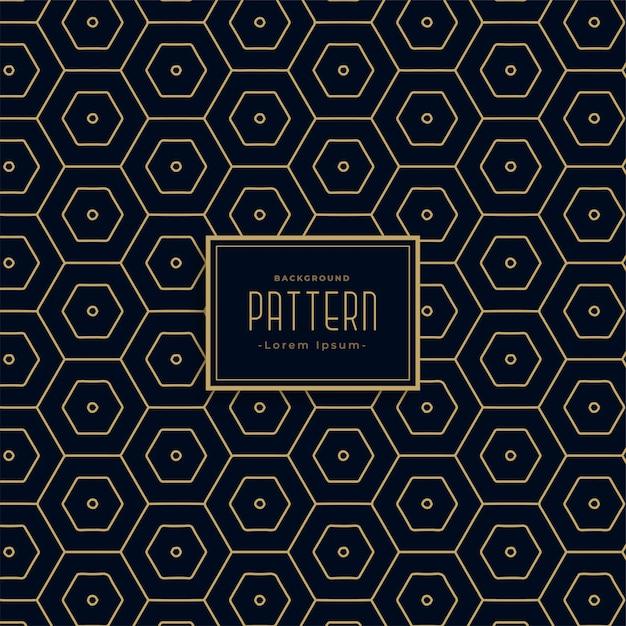 Eersteklas donker heaxagonaal patroon Gratis Vector