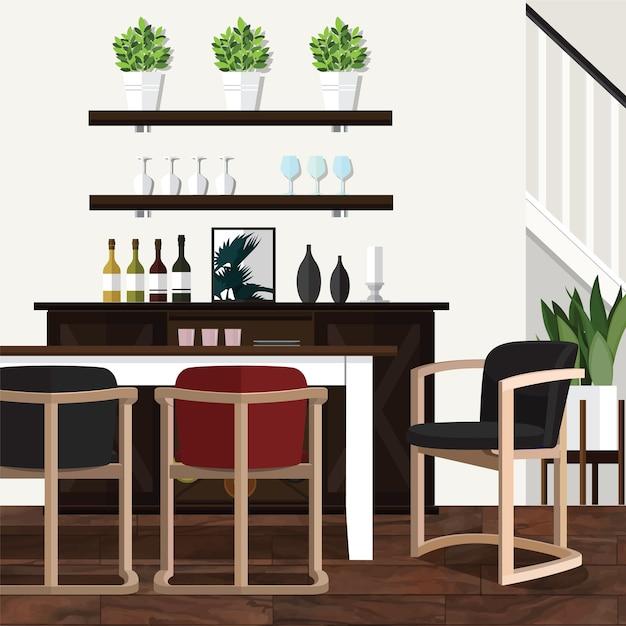 Eetkamer Ideeën versieren voor thuis | Vector | Premium Download