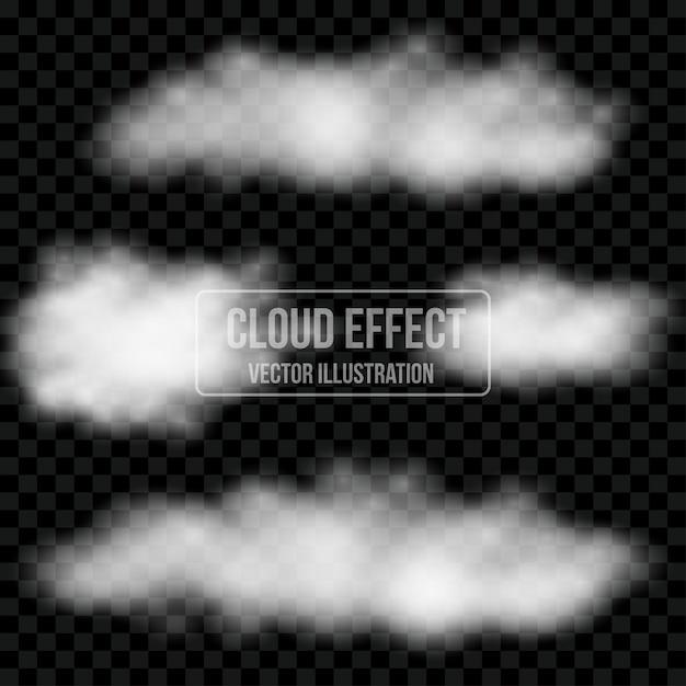 Effect template transparant cloud Gratis Vector