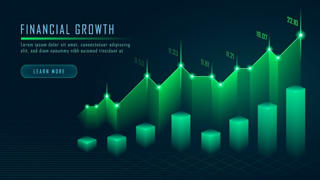 Effectenbeurs of forex trading grafiek in grafisch concept Premium Vector