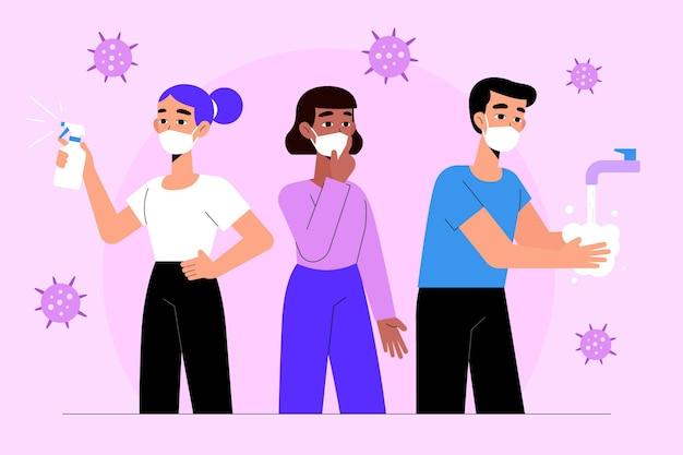 Effectieve manieren om coronavirus te voorkomen Gratis Vector