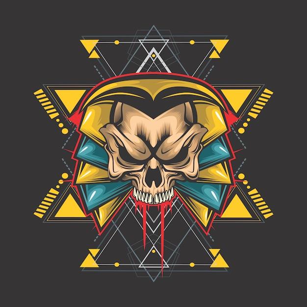 Egyptische schedel Premium Vector