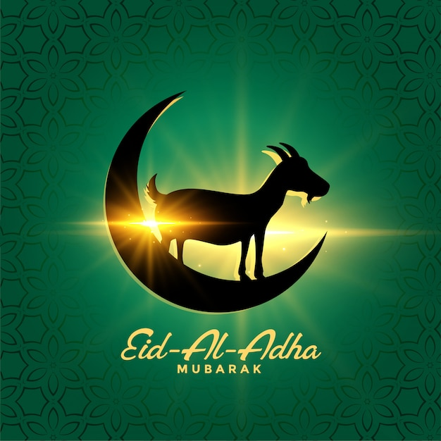 Eid al adha bakrid festivalachtergrond Gratis Vector