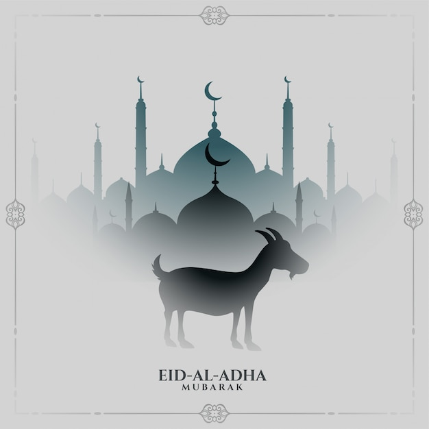 Eid al adha traditionele festivalachtergrond Gratis Vector