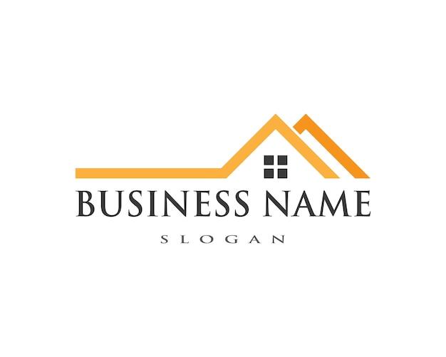 Eigendom en constructie logo Premium Vector