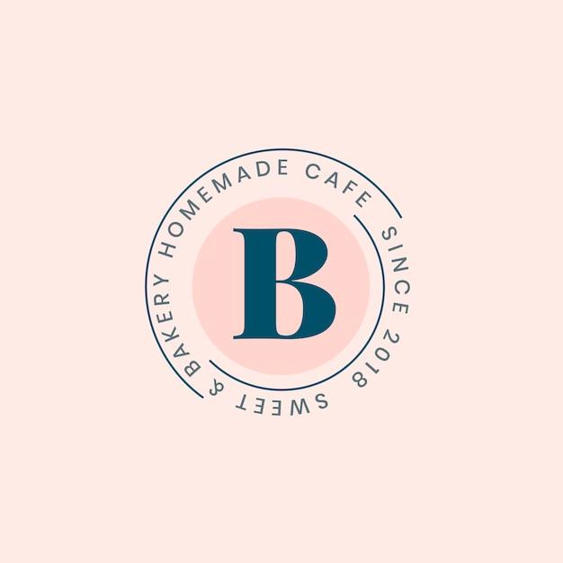 Eigengemaakte bakkerij logo badge ontwerp Gratis Vector