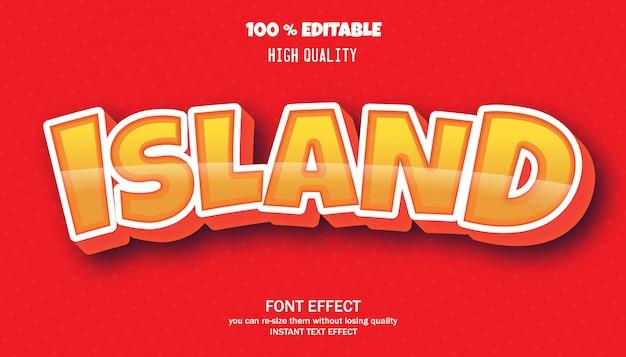 Eiland teksteffect Premium Vector