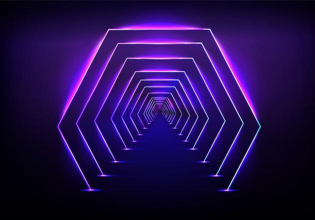 Eindeloze tunnel optische illusie Gratis Vector