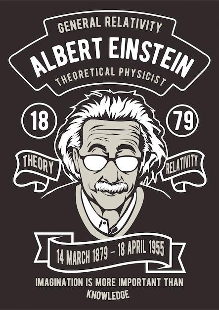 Einstein-poster Premium Vector