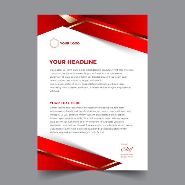 Elegant abstract en modern zakelijk briefhoofdontwerp Premium Vector