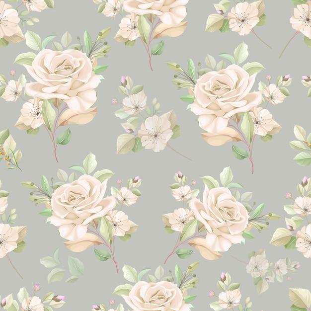 Elegant bloemen naadloos patroon Gratis Vector